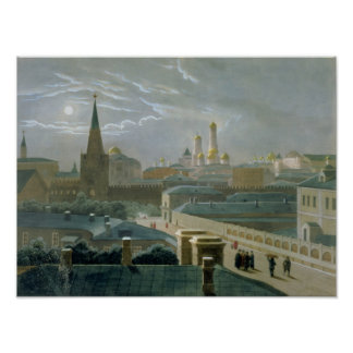 View of the Moscow Kremlin, 1840's Poster