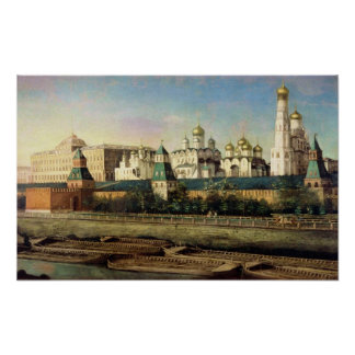 View of the Moscow Kremlin from the Embankment Poster