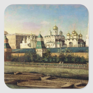 View of the Moscow Kremlin from the Embankment Square Sticker