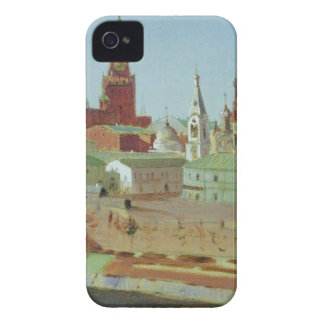 View of the Moskvoretsky Bridge, the Kremlin iPhone 4 Cases