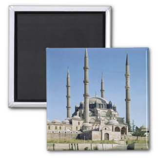 View of the mosque, Ottoman, built c.1569-75 2 Inch Square Magnet