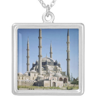 View of the mosque, Ottoman, built c.1569-75 Silver Plated Necklace