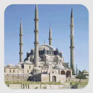 View of the mosque, Ottoman, built c.1569-75 Square Sticker