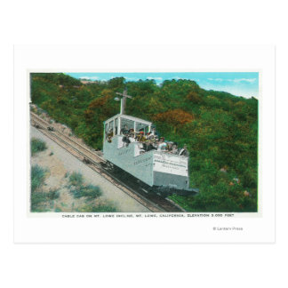 View of the Mt. Lowe Incline Cable Car Postcard