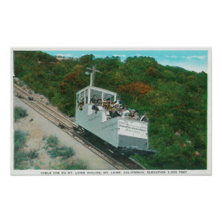 View of the Mt. Lowe Incline Cable Car Poster