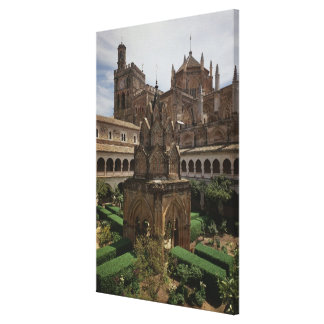 View of the mudejar cloister gallery wrap canvas