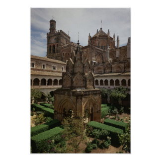 View of the mudejar cloister poster