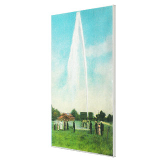 View of the Myrtledale Geyser at the Hot Springs Gallery Wrapped Canvas