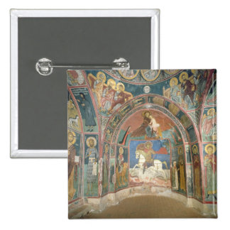 View of the narthex, 1332-3 2 inch square button
