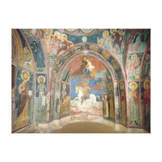 View of the narthex, 1332-3 canvas print
