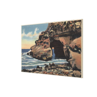 View of the Natural Arch, Emerald Cove Canvas Print