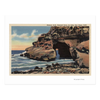 View of the Natural Arch, Emerald Cove Postcard