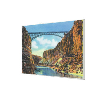 View of the Navajo Bridge at Lee's Ferry Canvas Print