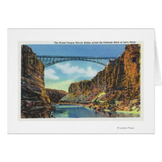 View of the Navajo Bridge at Lee's Ferry Greeting Card