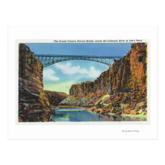 View of the Navajo Bridge at Lee's Ferry Postcard