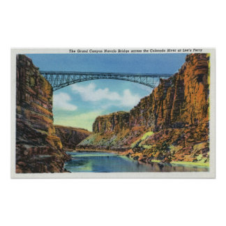 View of the Navajo Bridge at Lee's Ferry Poster