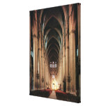 View of the nave, 1225-50 canvas print