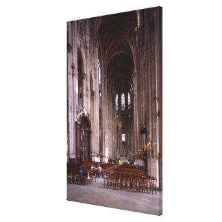 View of the nave, 1578-1637 canvas print