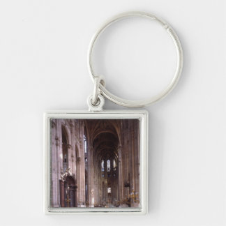 View of the nave, 1578-1637 Silver-Colored square keychain