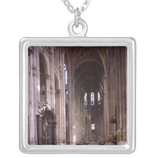 View of the nave, 1578-1637 square pendant necklace