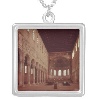 View of the nave and the altar square pendant necklace