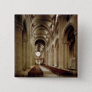View of the nave, built 1093-1289 pinback button