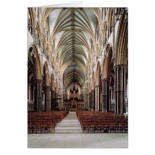 View of the nave, built 1215-55 card
