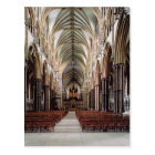 View of the nave, built 1215-55 postcard