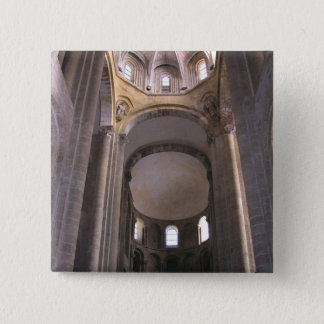 View of the nave, c.1050 (photo) pinback button