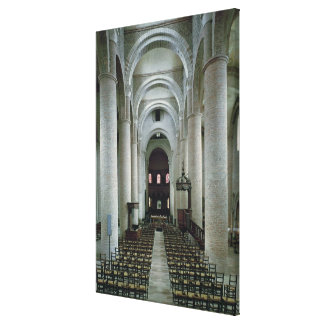 View of the nave, looking towards the altar canvas print
