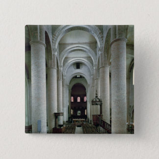 View of the nave, looking towards the altar pinback button