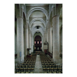 View of the nave, looking towards the altar poster