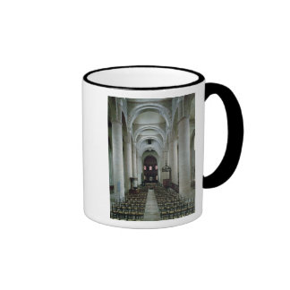 View of the nave, looking towards the altar ringer coffee mug