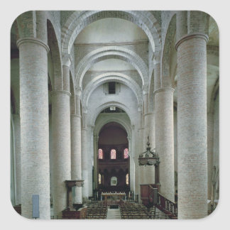View of the nave, looking towards the altar square sticker