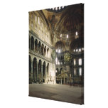 View of the nave stretched canvas print