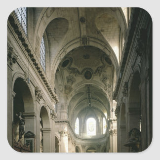 View of the nave towards the choir, built square sticker