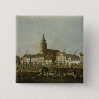 View of the Neue Markt with St. Mary's Pinback Button