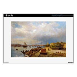 """View of the Neva and Peter and Paul Fortress 15"""" Laptop Decal"""