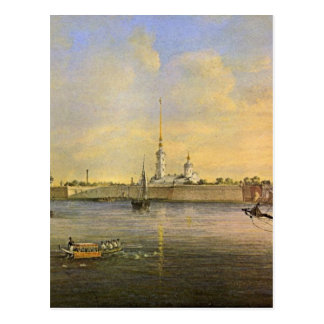View of the Neva and the Peter and Paul fortress Postcard