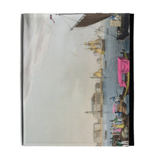 View of the Neva, the Harbour and the Exchange at iPad Folio Case