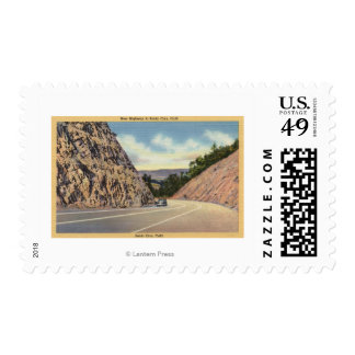 View of the New Highway to Santa Cruz Postage