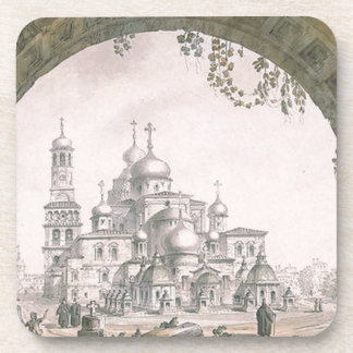 View of the New Jerusalem Monastery near Moscow Beverage Coaster