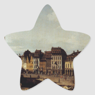View of the New Market Place in Dresden Star Sticker