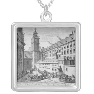 View of the new Observatory in the Jesuit Silver Plated Necklace