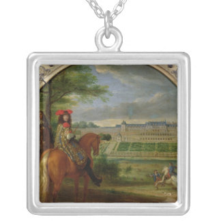 View of the New Palace of Saint-Germain Silver Plated Necklace