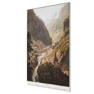 View of the New Simplon Pass, 1811 Canvas Print