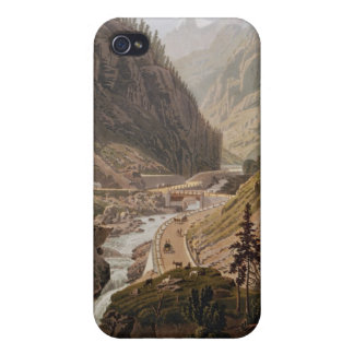 View of the New Simplon Pass, 1811 iPhone 4 Cases