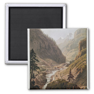 View of the New Simplon Pass, 1811 Refrigerator Magnet