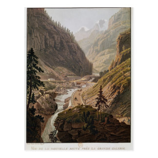 View of the New Simplon Pass, 1811 Postcard