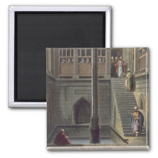 View of the Nilometer, plate 2 from 'Views of Egyp 2 Inch Square Magnet